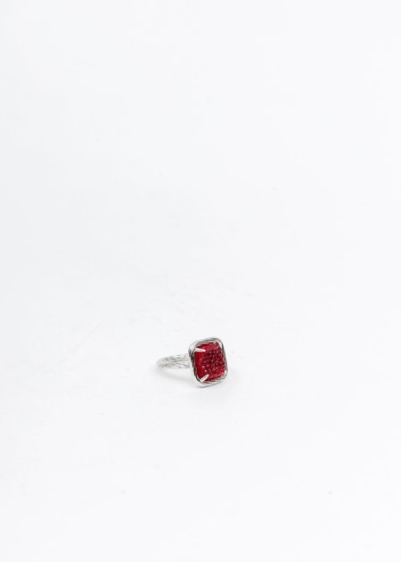 DEPARTMENT Candy Ring - Silver/Red