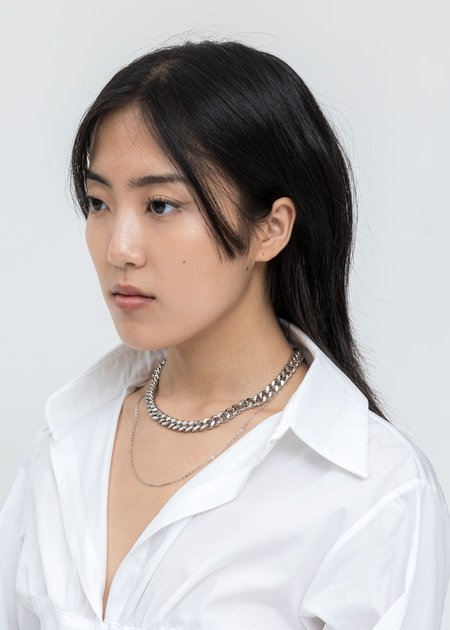 DEPARTMENT Mix Chains Necklace - Silver