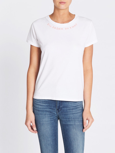 Mother Denim The Boxy Goodie Goodie Tee