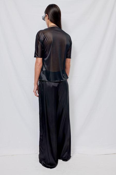Gabriela Coll Garments NO. 60 Wide Lining Trousers - Black