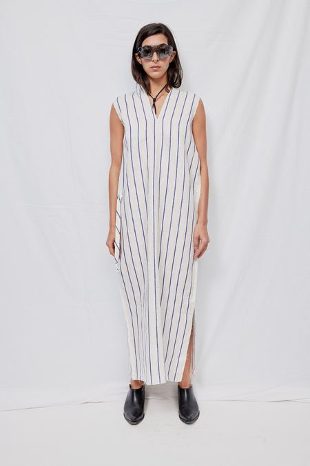 Gabriela Coll Garments NO.78 Linen Dress - white
