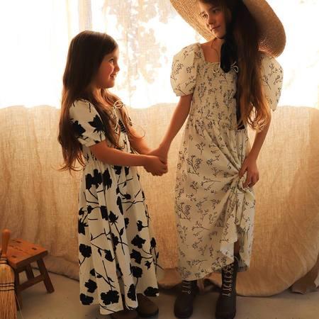 kids Feather Drum Violette Dress - Nocturnal Bloom
