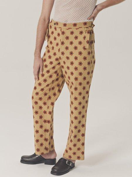 BODE Daisy Side Tie Trousers - Gold/Orange