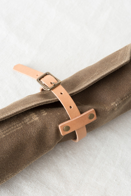 Winter Session General Tool Roll In Field Tan Waxed Canvas