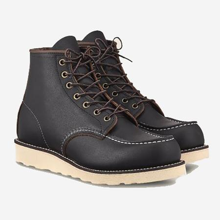 Red Wing Shoes Classic Moc 6-Inch Leather Boots - Black Prairie