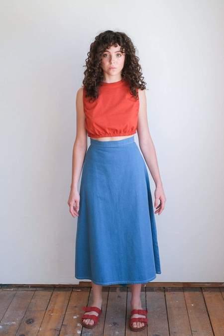 Toit Volant Mona Lisa Skirt - Riverside Blue