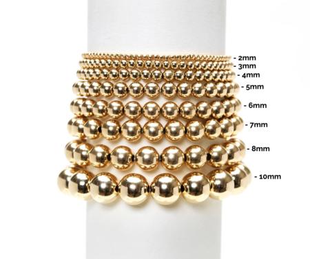 Karen Lazar 3mm Milky Agate Bracelet - Yellow Gold Filled