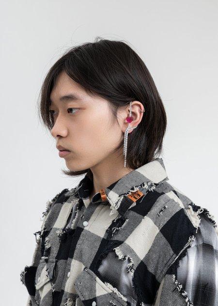 DEPARTMENT Heart Earring B - Silver/Pink
