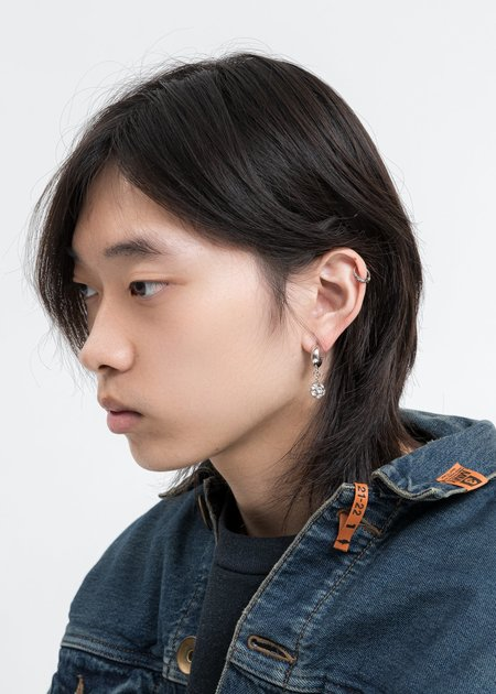 DEPARTMENT Disco Ball Earring Single - Silver