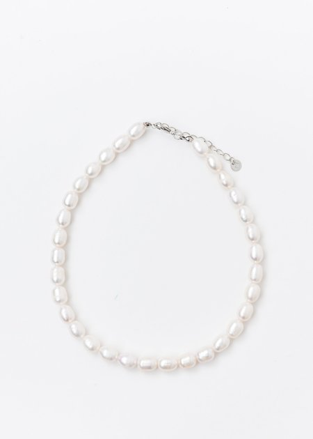 DEPARTMENT White MM Pearl Necklaces - Silver