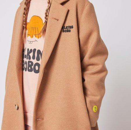 kids Bobo Choses Talking Bobo Embroidered Coat - Light Brown
