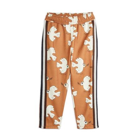 kids mini rodini aop peace dove trousers - brown