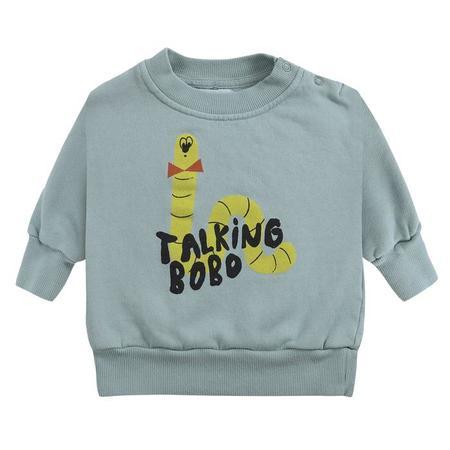 Kids Bobo Choses Scholar Worm Print Sweatshirt - Green