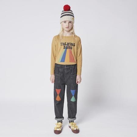 Kids Bobo Choses Geometric Print Denim Pants - Blue