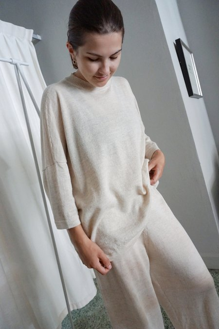 Lauren Manoogian Facil Crewneck - Ecru Flax