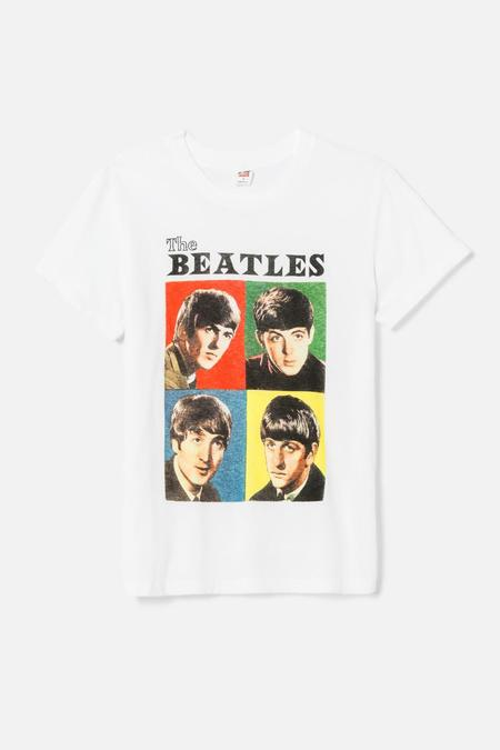 RE/DONE 70s Loose The Beatles Tee  - Optic White