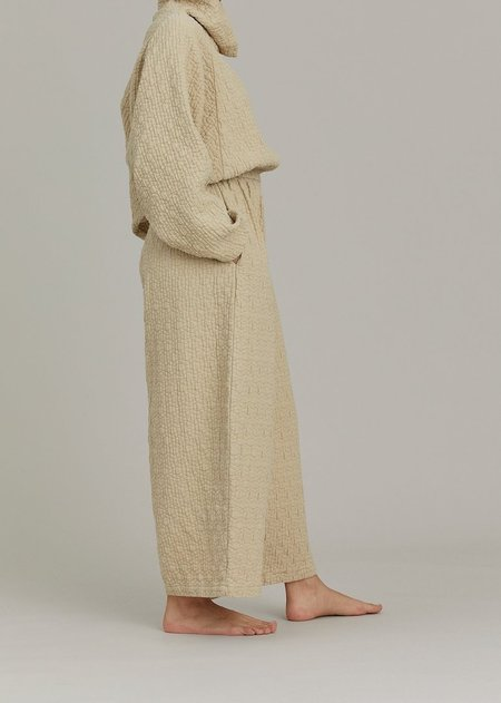 Black Crane Quilted Tube Jumpsuits - Natural