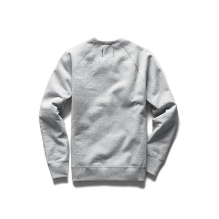 Reigning Champ Mid Weight Lockup Relaxed Fit Pullover Crewneck - Heather Grey