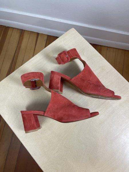 [Pre-loved] By Far Red Block Heels - Red