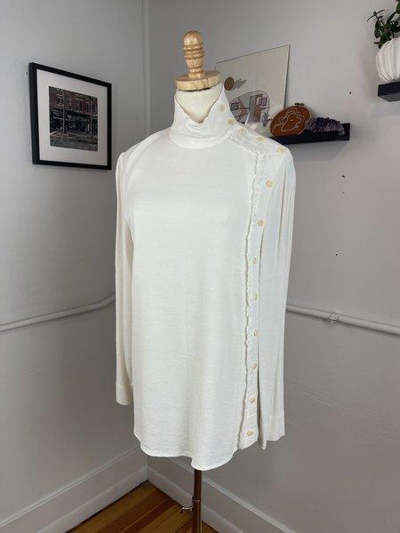 [Pre-loved] Raquel Allegra Side Button Blouse - off-white