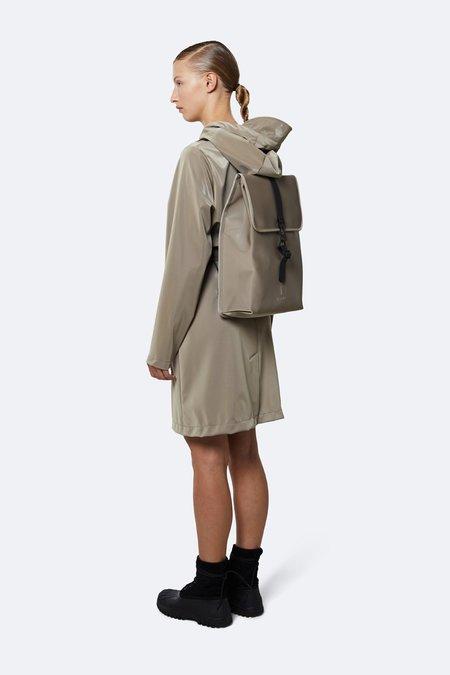 Unisex Rains Velvet Rucksack Backpack - Taupe