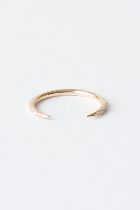 WWAKE Micropave Open Slice Ring In 14KY