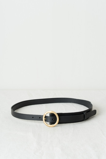 KikaNY No20 Cut & Stitched Belt In Black