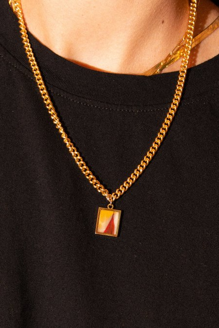 Legier Sunset Stone Pendent Necklace - 14k Gold Filled