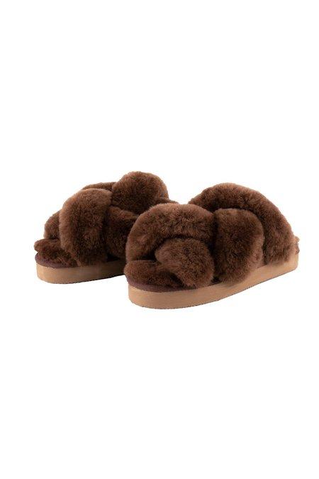 Shepherd of Sweden Gabriella slippers - Rusty Brown