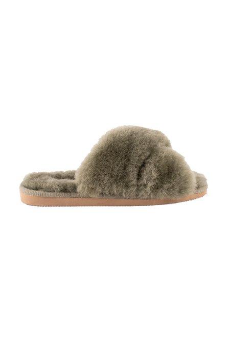Shepherd of Sweden Lovisa slippers - Olive
