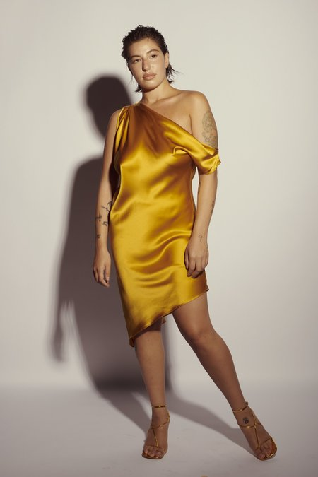 KES Venus Drop Shoulder Dress - Aurum