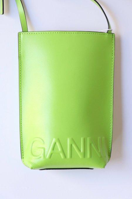 Ganni Recycled Leather Crossbody Bag - Flash Green