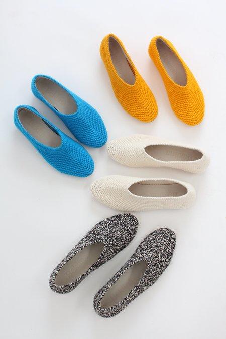 Beklina Crochet Ballet Flats - Black/White