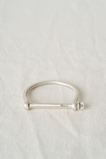 Miansai Screw Cuff In Brushed Sterling Silver