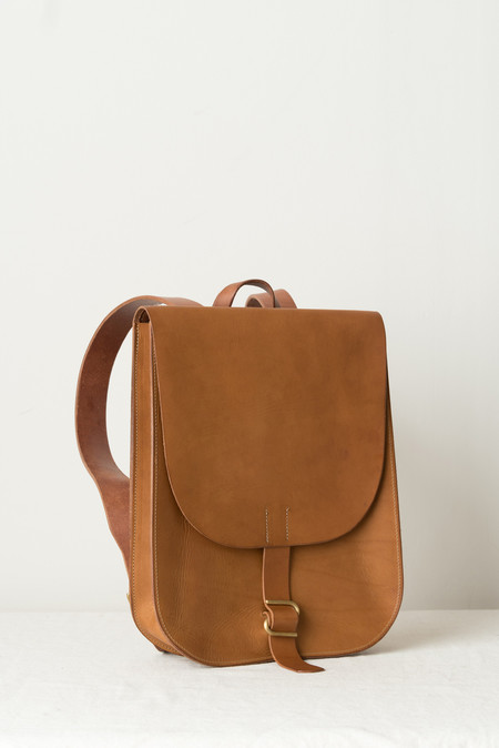 KikaNY Small Postal Backpack #2 In Dark Tan