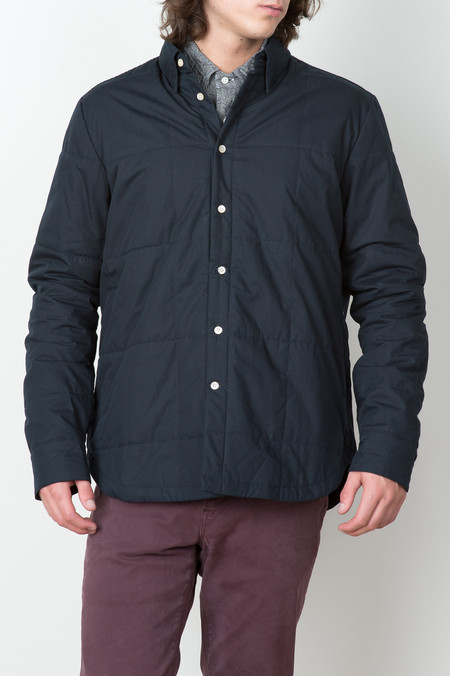 A Kind of Guise Tiam Overshirt In Navy