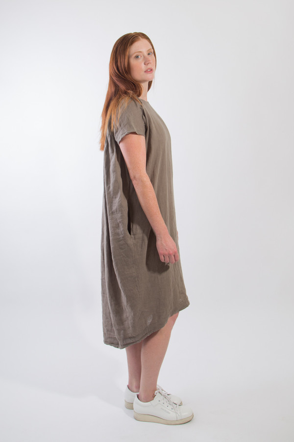 Black Crane Cocoon Dress