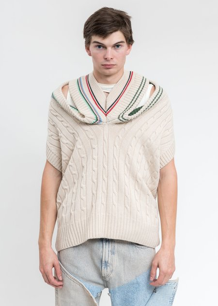 Y/project Triple Collars Cricket Vest - Beige