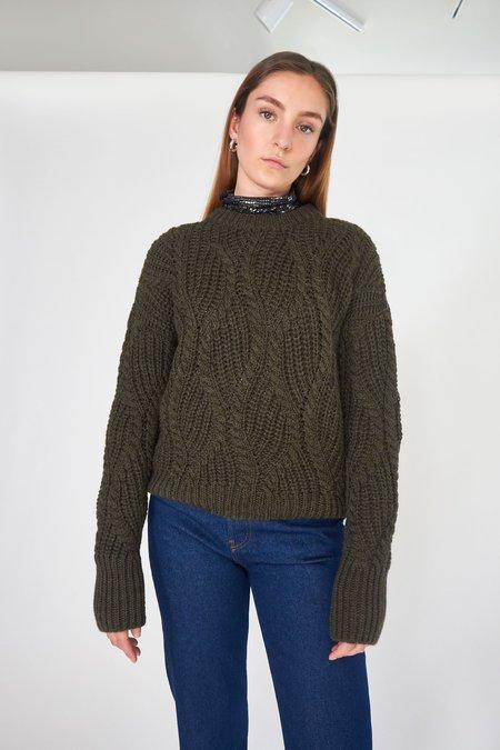 Roseanna Tresse Maille Darius Sweater  - dark green
