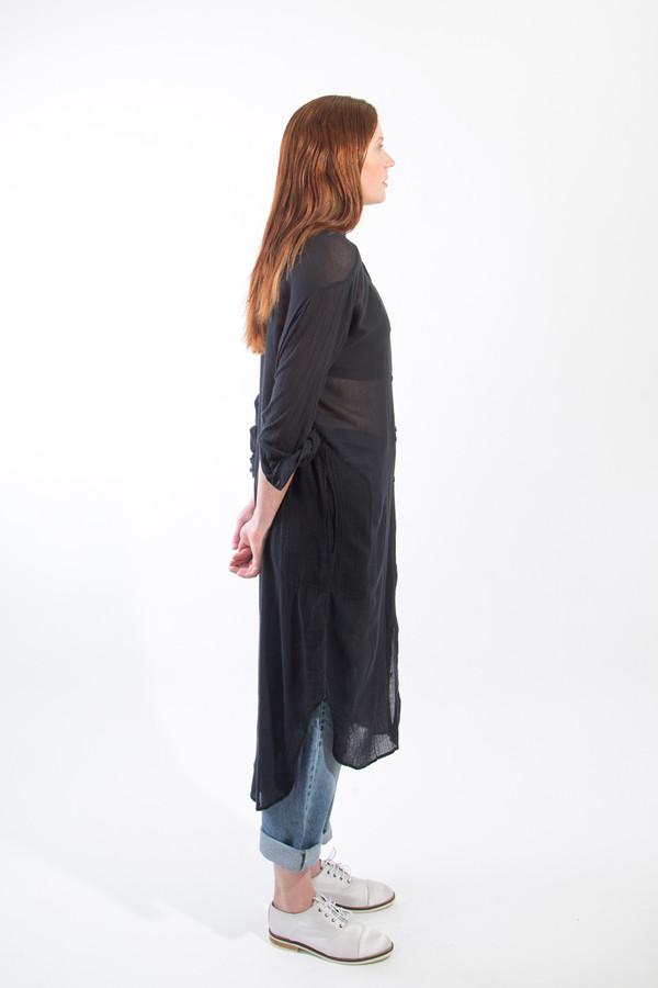 Black Crane Double Collar Dress