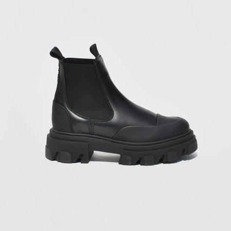 Ganni Low Chelsea Boot - Black