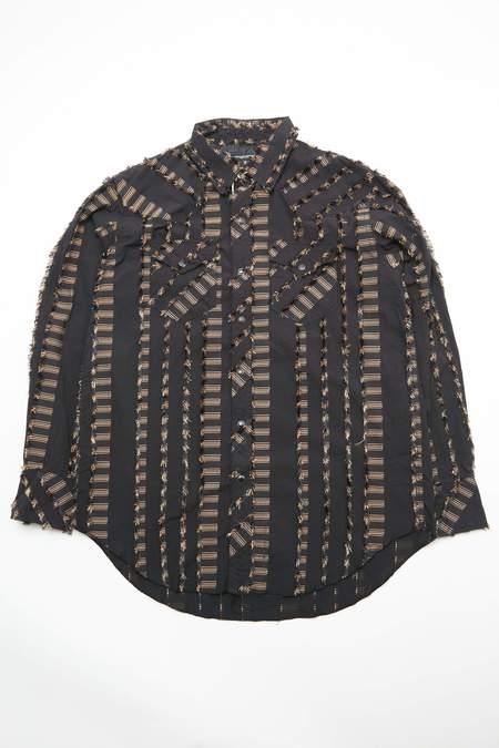 Engineered Garments CP Dobby Fringe Combo Western Shirt - Black