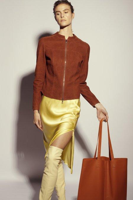 KES Suede Shirt Jacket - Rust