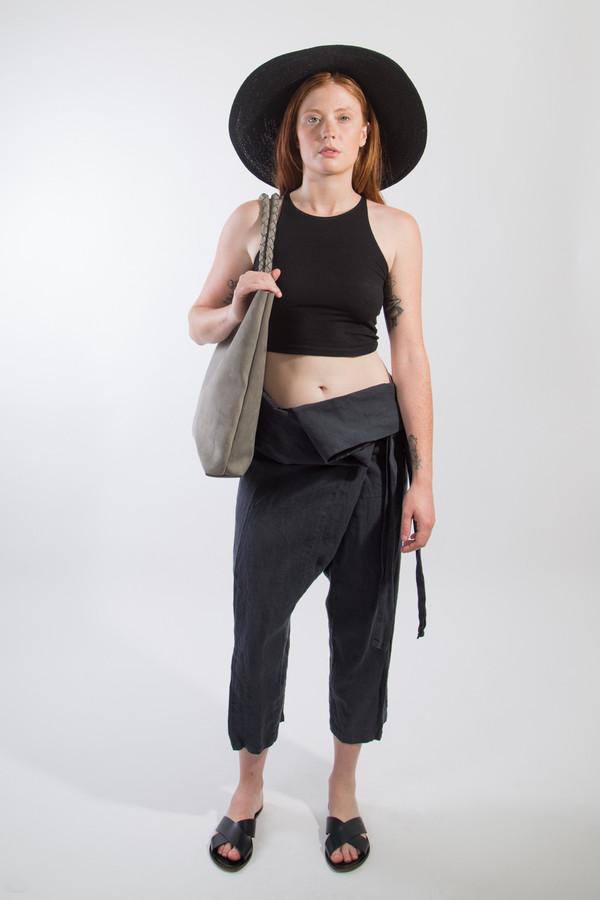 Black Crane Wrap Pants