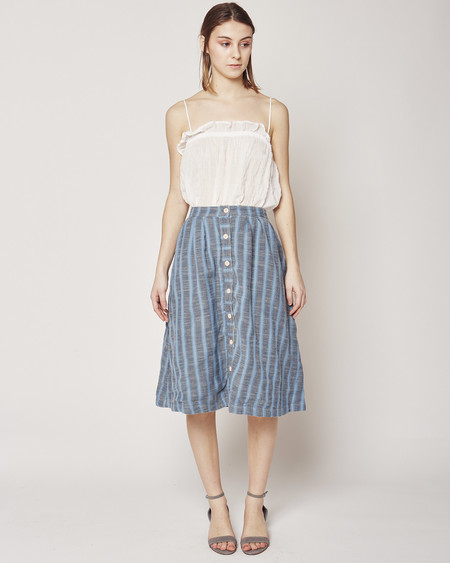Ace & Jig Carver skirt in Stonewash