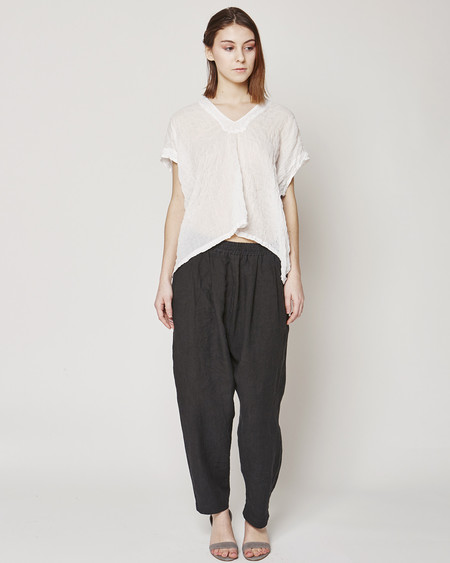 Atelier Delphine Celeste top in white/graphite