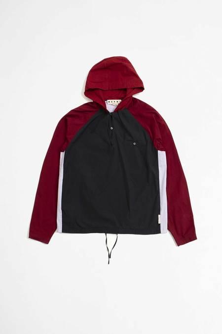 Marni Hooded shirt - navy/red