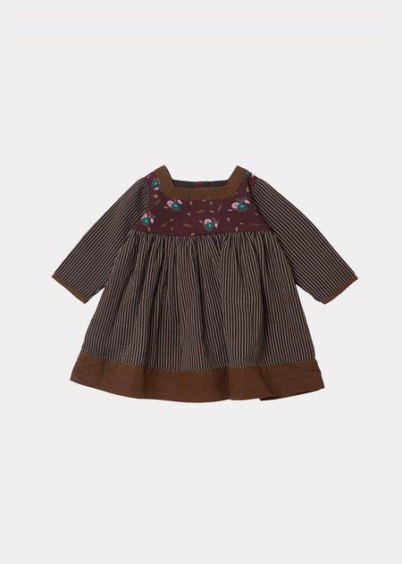 Kids Caramel Earth Baby Dress - Brown Thistle Print