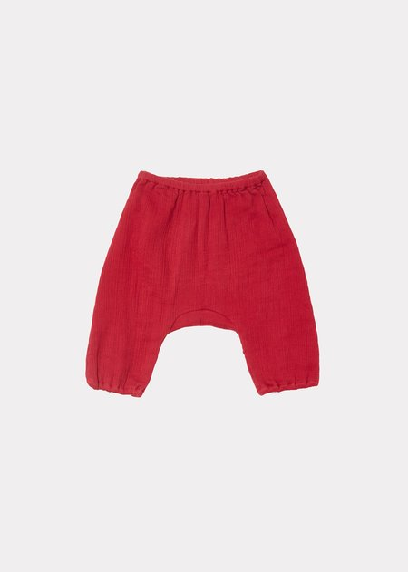 Kids Caramel Faraday Baby Trousers - Red Current