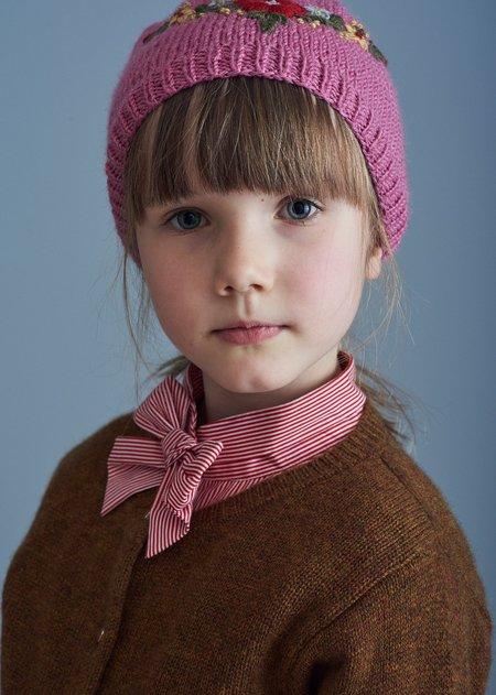 Kids Caramel Folsom Blouse - Red Stripe